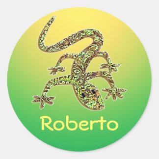 Roberto Gecko / Salamander / Lizard Sticker