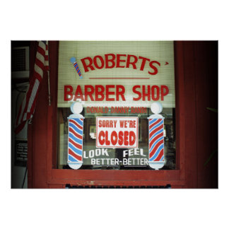 Roberts Barber Shop Poster