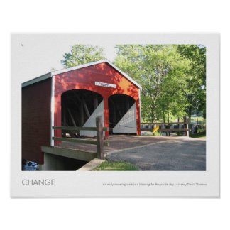 Roberts Double Barreled Covered Bridge Photo Poster