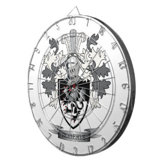 Roberts Family Crest Coat of Arms Dartboard