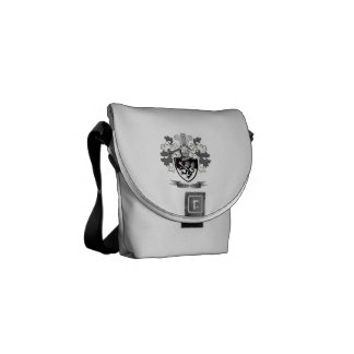 Roberts Family Crest Coat of Arms Messenger Bags