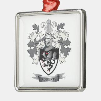 Roberts Family Crest Metal Ornament