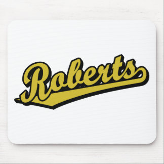 Roberts in Gold Mouse Pads