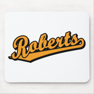 Roberts in Orange Mouse Pads