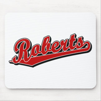 Roberts in Red Mouse Mat