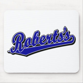 Roberts s in Blue Mouse Pads