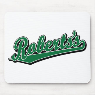 Roberts s in Green Mouse Mat