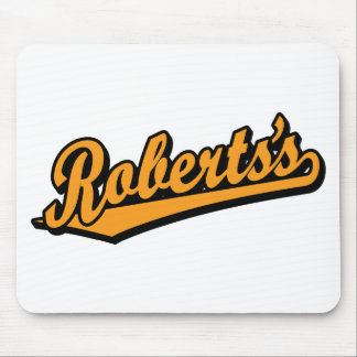 Roberts s in Orange Mouse Pads