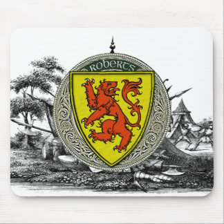 Roberts (Wales) Family Arms Mouse Pad