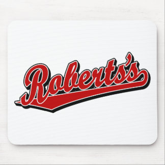 Roberts's in Red Mouse Mat