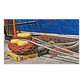 robes and rust of ship photo print