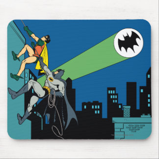 Robin And Batman Climb Mouse Pad