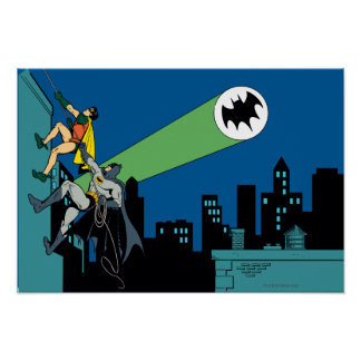 Robin And Batman Climb Poster