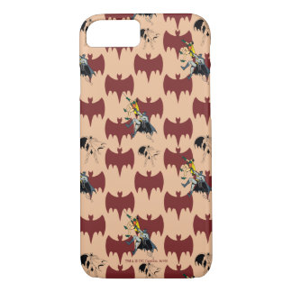 Robin And Batman Climbing Pattern iPhone 8/7 Case