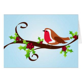 Robin and holly - Card