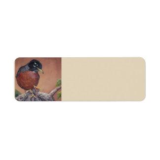 Robin Bird Art Address Labels