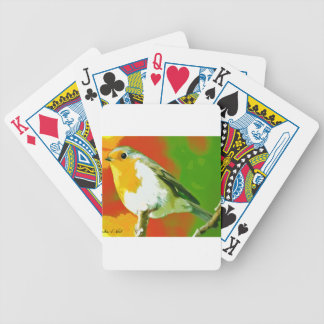 Robin Bird Bicycle Playing Cards