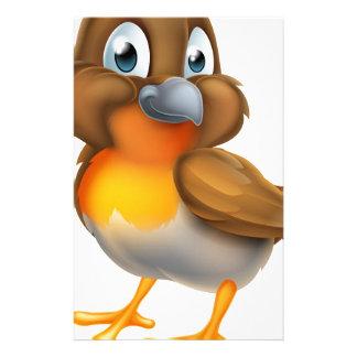 Robin Bird Cartoon Character Stationery