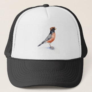 Robin Bird in Hat