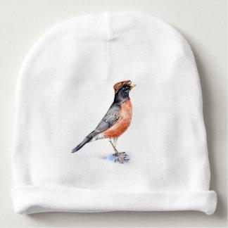 Robin Bird in Hat Baby Beanie