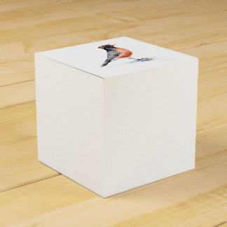 Robin Bird in Hat Favor Box