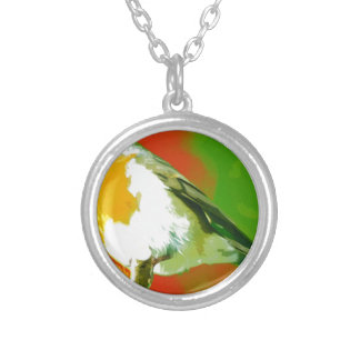 Robin Bird Silver Plated Necklace