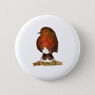 Robin Bird Watercolor Painting Artwork 2 Inch Round Button