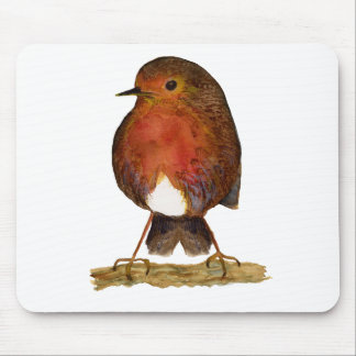 Robin Bird Watercolor Painting Artwork Mouse Pad