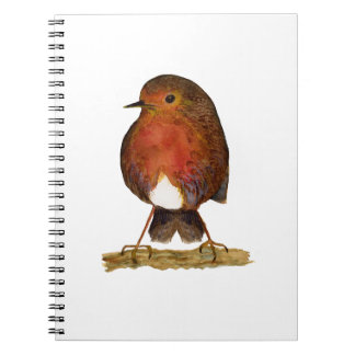 Robin Bird Watercolor Painting Artwork Notebook
