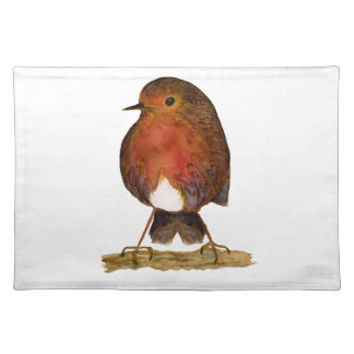 Robin Bird Watercolor Painting Artwork Placemat