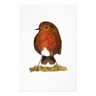 Robin Bird Watercolor Painting Artwork Stationery Paper
