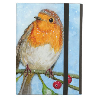 Robin Bird Watercolour Painting iPad Air Case