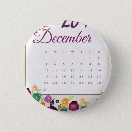 Robin Calendar 2 Inch Round Button