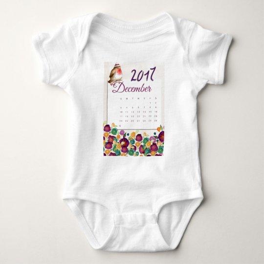 Robin Calendar Baby Bodysuit