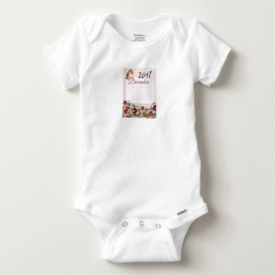 Robin Calendar Baby Onesie