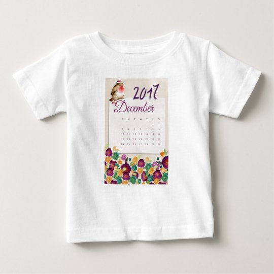 Robin Calendar Baby T-Shirt