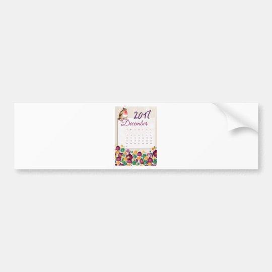 Robin Calendar Bumper Sticker