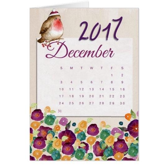 Robin Calendar Card
