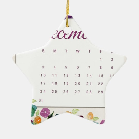 Robin Calendar Ceramic Ornament
