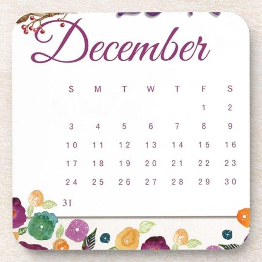 Robin Calendar Coaster