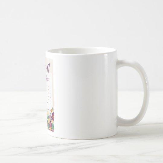Robin Calendar Coffee Mug