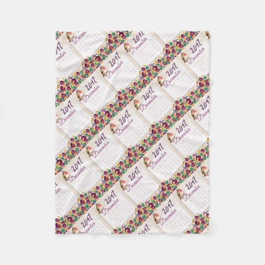 Robin Calendar Fleece Blanket