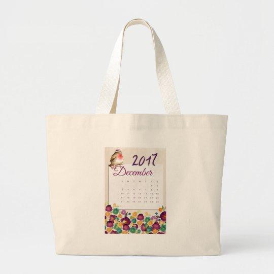 Robin Calendar Large Tote Bag