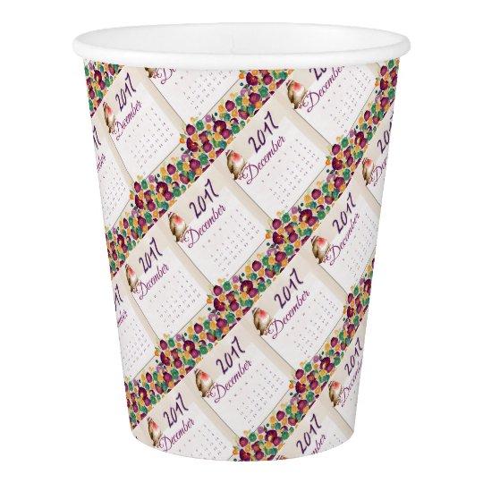 Robin Calendar Paper Cup