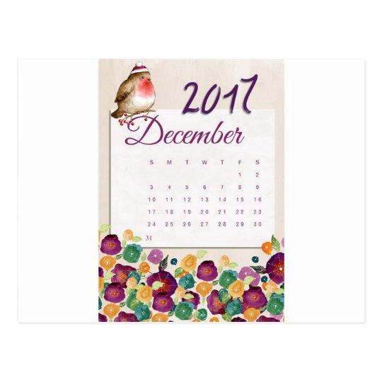 Robin Calendar Postcard