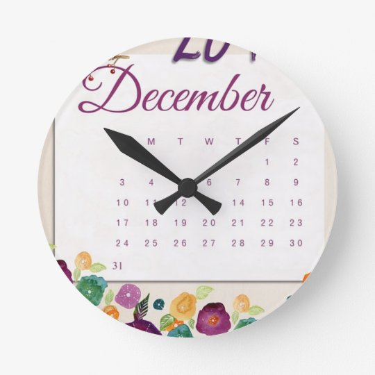 Robin Calendar Round Clock