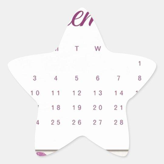 Robin Calendar Star Sticker