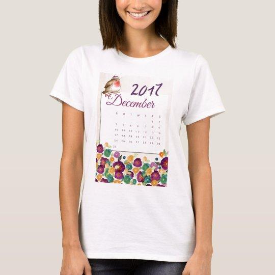 Robin Calendar T-Shirt