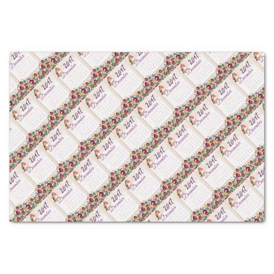 Robin Calendar Tissue Paper