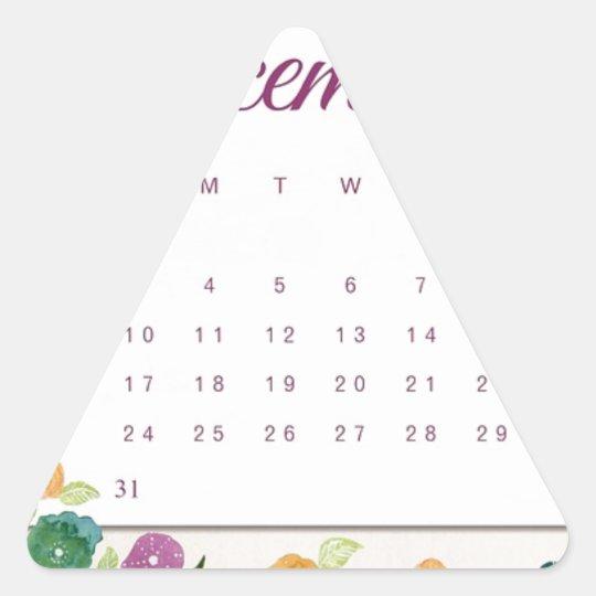 Robin Calendar Triangle Sticker
